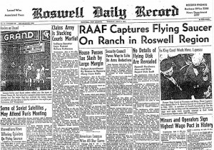 Roswell crash.