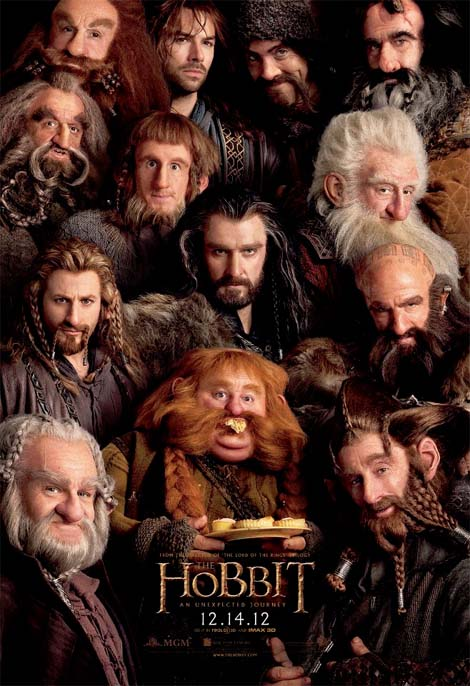 13 dwarves for dinner - Peter Jackson's The Hobbit film.