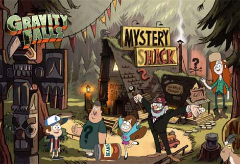 Gravity Falls cartoon.