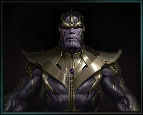 Thanos from the Avengers film.