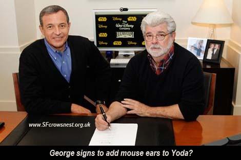George Lucas sells StarWars to Disney.