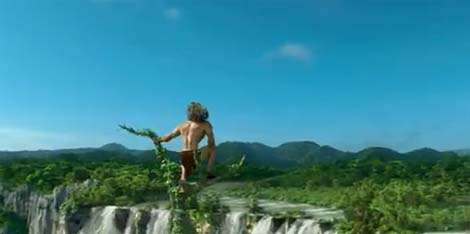 Tarzan animated movie.