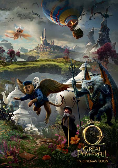 Oz the Great and Powerful: Yeah, and monkeys might fly out of my...