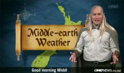 And the weather in Elvish is... Gandalf-created storms?