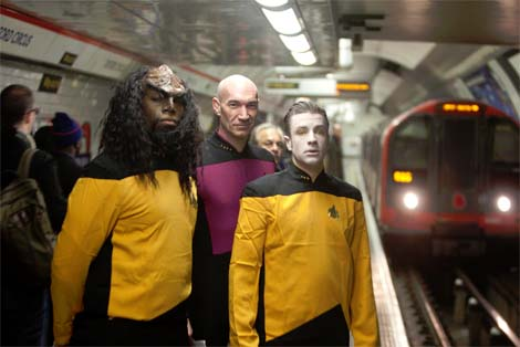 Star Trek: The Next Generation invades London.