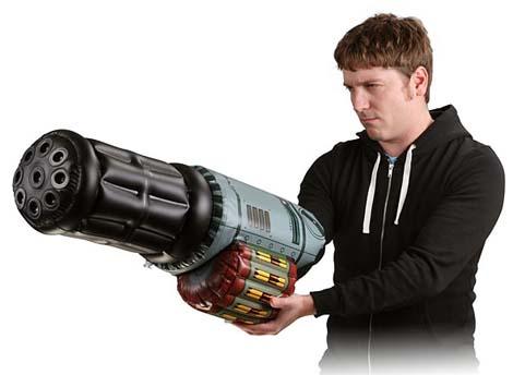 Feel like Arnie with Inflatable Minigun Arm!