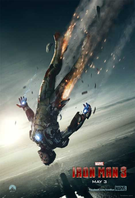 Iron Man 3... falling from the sky.