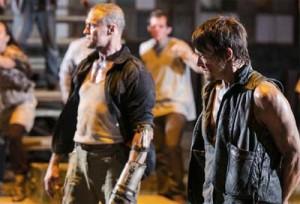 Waling Dead 3rd season... Merle versus Daryl smackdown.