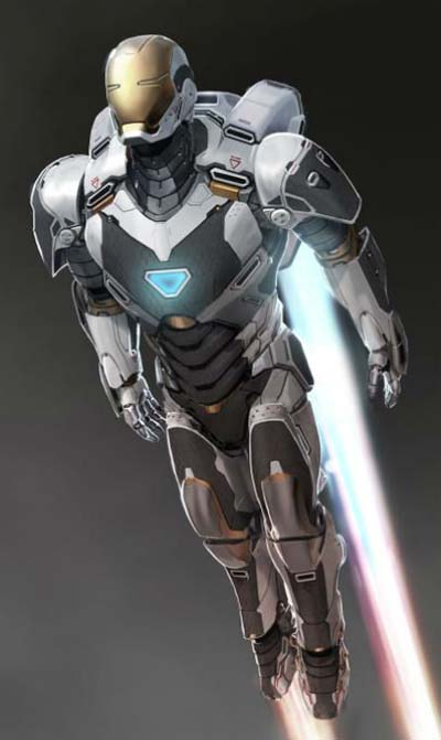 Iron Man 3 movie production art.