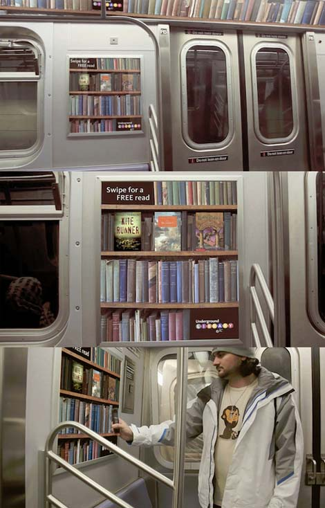 Trains full of books!
