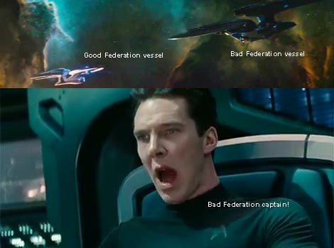 Star Trek Into Darkness... 3rd trailer. Bad Federation versus good Federation.