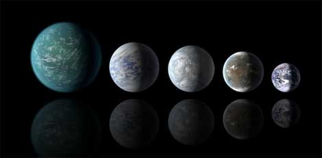 NASA finds smallest habitable zone worlds yet.