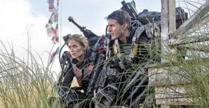 Edge of Tomorrow... movie trailer with Tom Cruise.