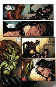 Miranda Lawson and her captors. Image courtesy of Dark Horse Comics