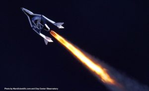 SpaceShipTwo creeps closer to the big dark.