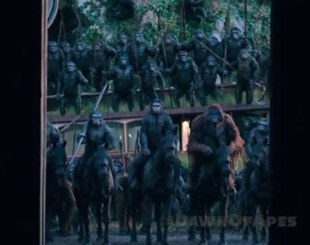 Dawn of the Planet of the Apes . . . new trailer, go ape.