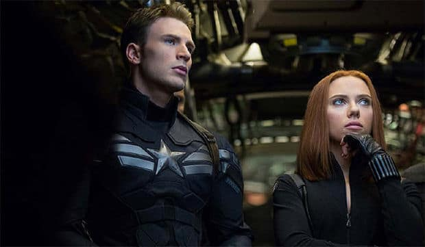 """We're fellow AVENGERS Captain America and Black Widow. So who were you expecting...maybe John Steed and Emma Peel?"""