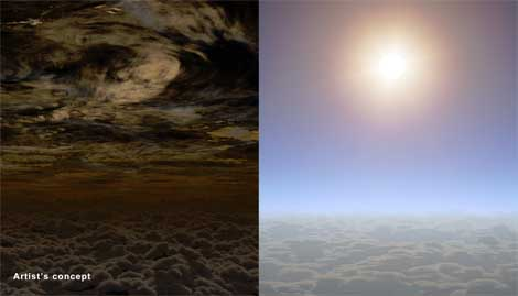 Clear skies and water vapour found on alien exoplanet.