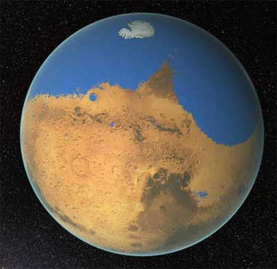 Mars held more water than Earth's Arctic Ocean . . . from wet world to dead planet.