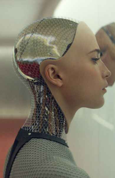 Ex Machina (2015) film review by Mark R. Leeper.