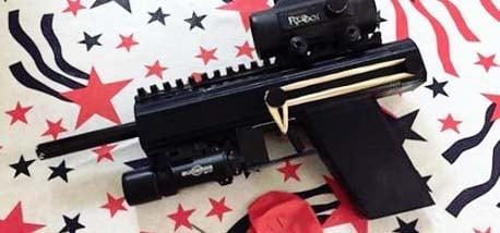 3D printed poison dart pistol.