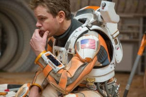 C'mon now...who says that partial orange is not the new black? Space ace Matt Damon, that's who!