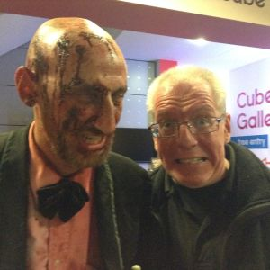 Patrick Mahon with Zombie Ed Thurlow