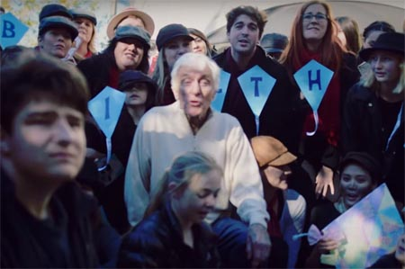Dick Van Dyke gets flashmobbed on his 90th birthday.