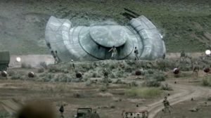 The crashed saucer wasn't CGI but an actual object. Expect to see it again.