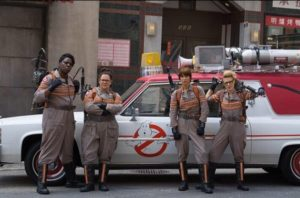 """Hey you misogynistic morons...so you think we belong in the kitchen, huh? Guess what...our domestic goal is to clean house...as GHOSTBUSTERS!"""
