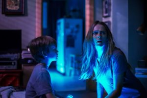 For these siblings the fear is in despite the LIGHTS being OUT in Sandberg's bump-in-the-night showcase