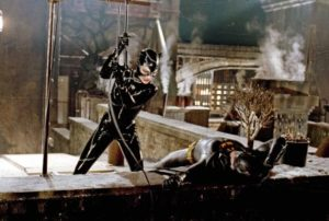 Batman Returns (1992) | Pers: Michelle Pfeiffer, Michael Keaton | Dir: Tim Burton | Ref: BAT052FN | Photo Credit: [ The Kobal Collection / Warner Bros/DC Comics ] | Editorial use only related to cinema, television and personalities. Not for cover use, advertising or fictional works without specific prior agreement