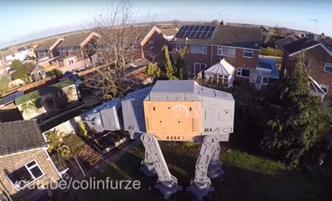 Gigantic Star Wars AT-AT garden den built in UK (neighbours sooooo pleased).