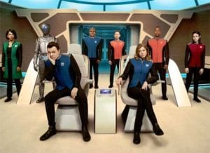The Orville (new scifi comedy TV: Galaxyquest-style).