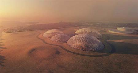 Mars gets a full simulated domed city.